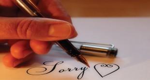 الاعتذار في اللغة الانجليزية